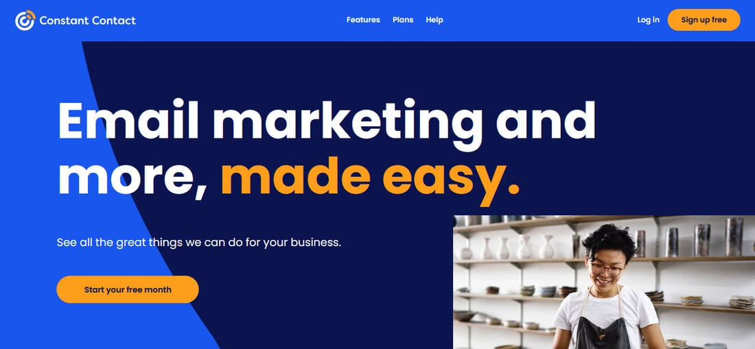 Constant Contact Landing Page