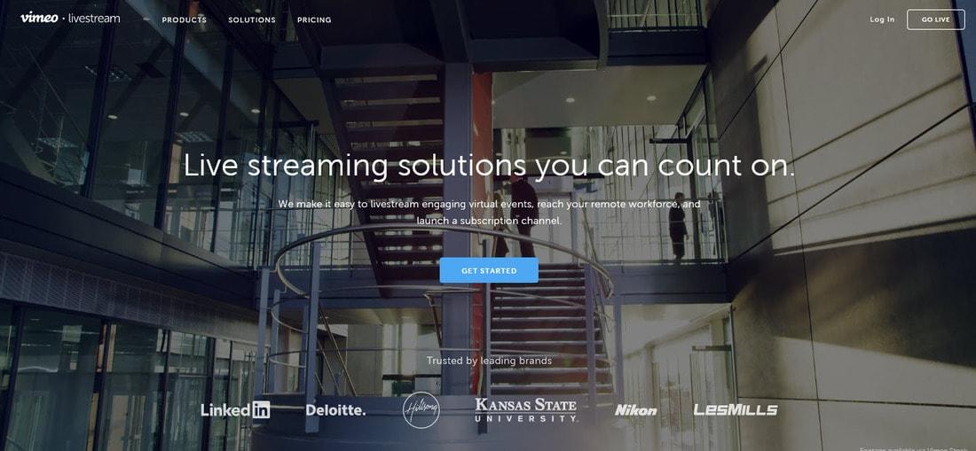 livestream landing page