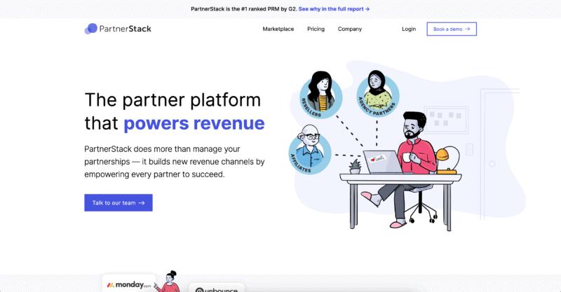 partnerstack landing page