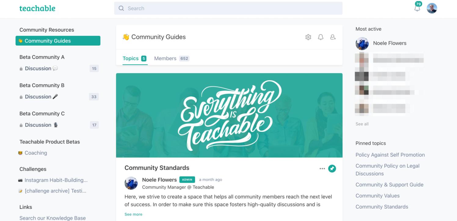 Techable Community Feature