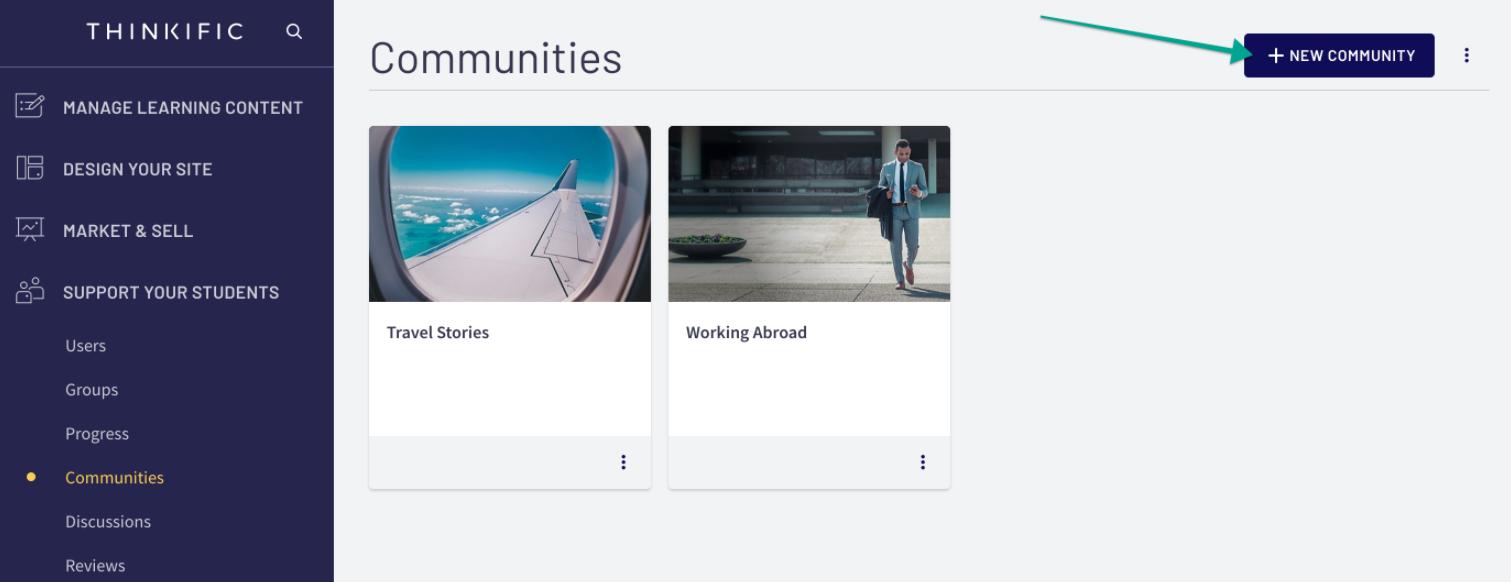 Thinkific Communities Functionality