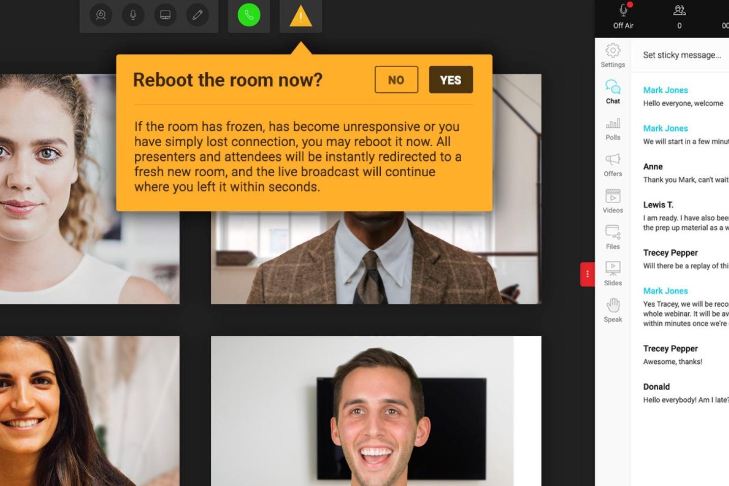 WebinarJam Reboot Room Function
