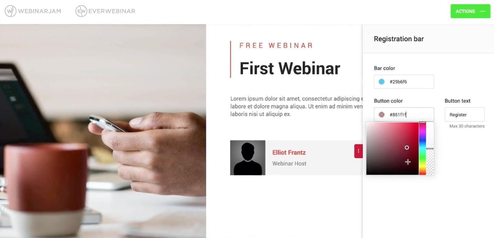 WebinarJam Webinar Builder