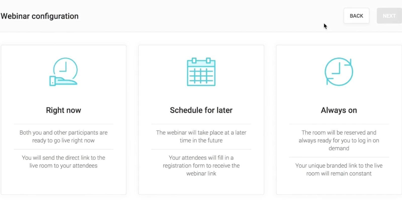 WebinarJam Webinar Configuration