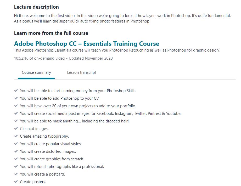 Udemy Photoshop CC Training Course
