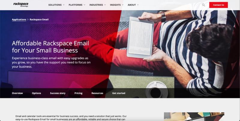 Rackspace Email Hosting Provider