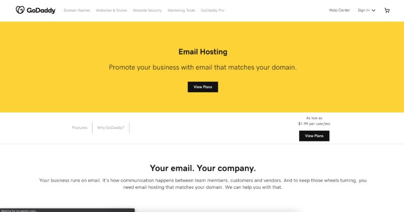 godaddy email hosting