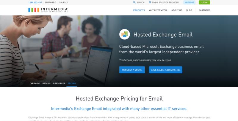 intermedia email hosting